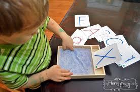 diy montessori sand writing and drawing tray preschool learning