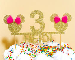 Cake Decorations For 1st Birthday Minnie Mouse Cake Etsy Studio