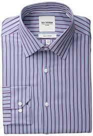 men u0027s striped dress shirt amazon com