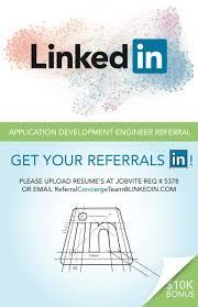 Linkedin Resume Upload Linkedin Referral Poster Seattle Web Design