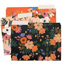 cavallini file folders griffin amelie floral file folders box of 12