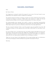 grant cover letter example grant cover letter 40 41 the proposal