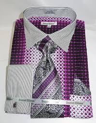 daniel ellissa ds3786p2 purple men u0027s french cuff dress shirt with