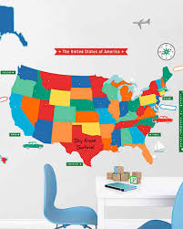 Kids Map Of The United States by 10 Educational And Fun Decorating Ideas For Kids Martha Stewart