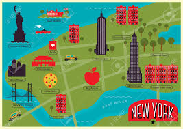 Map Of Ny City City Map Of New York City United States Royalty Free Cliparts