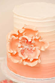 peach ombre wedding cake peach ombrè other things to be thankful for sprinkles for breakfast