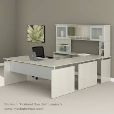 Office Table Front View Medina Series Straight Front Executive U Shaped Desk Suite 40