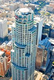 skyslide suspended 1000 feet in air coming downtown l a