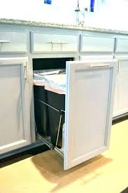 kitchen cabinet trash pull out pull out trash cans under cabinet house of designs