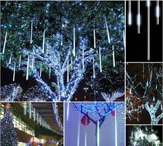 ip65 waterproof led lights 8pcs set snowfall 50cm