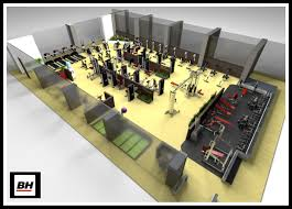 3d gym plan with all the details 3d gym desings and gym plans