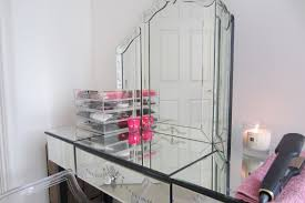 Glass Vanity Table With Mirror Mirror Dressing Table Kitchen King