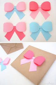 paper ribbon paper ribbon bow gift topper craft diy paper