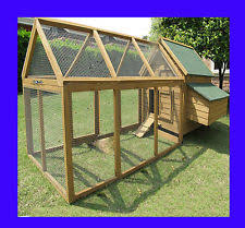 Rabbit Hutch With Detachable Run Rabbit Hutch And Run Pet Supplies Ebay