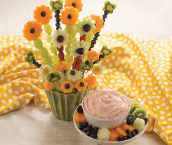flower fruit kabobs with fruit dip tastefully simple