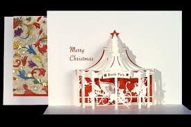 carousel origami architecture pop up cards by live