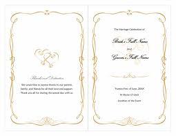 blank wedding program templates blank wedding program templates with wedding program heart scroll