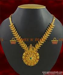 beautiful necklace designs images Nckn285 beautiful party wear stone necklace guarantee gold jpg