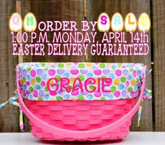 easter baskets for sale personalized painted easter basket by designedsigns