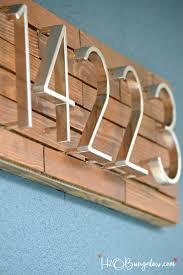 wood slat diy horizontal wood slat address plaque tutorial h20bungalow