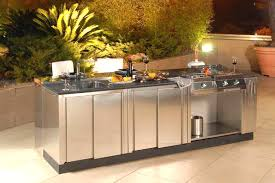 Kitchen Utility Cabinet by Stainless Steel Outdoor Kitchen Cabinets Superb Cal Flame Complete