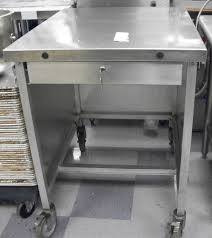 Used Stainless Steel Tables by Used Stainless Steel Mobile Stand With Drawer