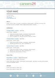Template For A Professional Resume 4 Free Downloadable Cv Templates For South African Job Seekers