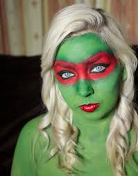teenage mutant ninja turtles raphael halloween makeup look youtube