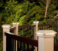 Patio Post Lights Accent Your Railing With Deck Post Lights That Surround Your Space