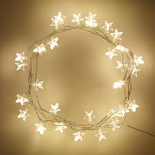 bedroom star lights indoor star fairy lights with 30 warm white leds by lights4fun