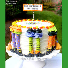 park your brooms a witchy halloween blog tutorial my cake