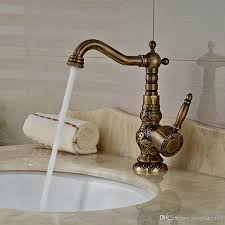 2018 Wholesale And Retail Luxury Antique Brass Bathroom Faucet Bathroom Fixtures Wholesale