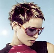 highlights in very short hair very short layered spiky hair style highlight