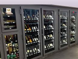 locking wine display cabinet refrigerated wine unit cms display fixtures