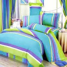 Twin Bedding Sets Girls by Lime Green Blue Purple Stripe Teen Bedding Twin Full Queen