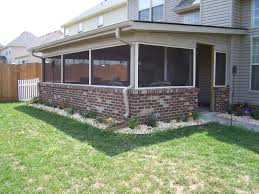 we built this screen porch with a brick base wall wood porches