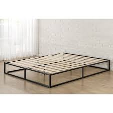 priage 10 inch full size metal platform bed frame full black