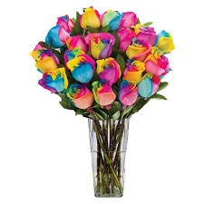 tie dye roses fresh cut rainbow roses with vase target
