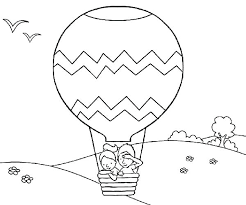coloring pages of balloons air balloons coloring pages balloons