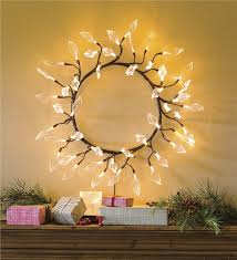 lighted leaves led wreath lighting