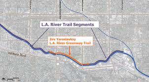 Studio City Map Tree Lined Walking And Biking Path Opening Along The La River In