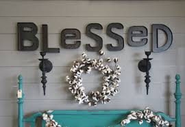Home Decor Letters Metal by Rustic Metal Blessed Wall Sign Custom Steel Blessed Letters