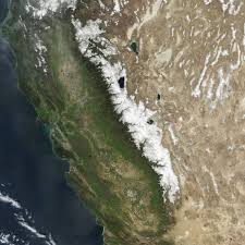 Sierra Nevada Mountains Map Diminished Snow Pack In The Sierra Nevada Image Of The Day