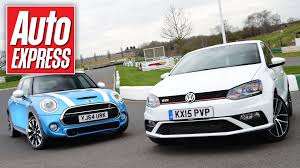 volkswagen hatch old new vw polo gti vs mini cooper s hatch showdown youtube