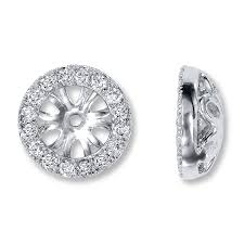 diamond earring jackets jared diamond earring jackets 3 8 ct tw cut 14k white gold
