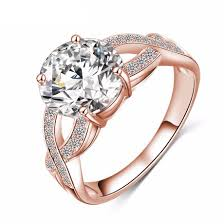 rose style rings images Unique european style rose gold silver rings top city trends jpg