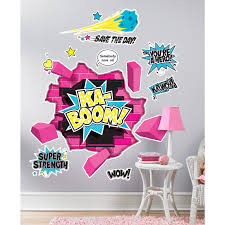 Wall Decals For Girls Bedroom Superhero Giant Wall Decals Birthdayexpress Com