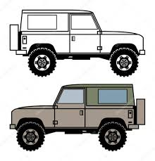 land rover defender vector внедорожник вектор u2014 векторное изображение fla 85075010