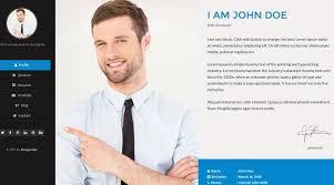 Html Resume Templates Best Resume Website Templates 50 Best Html Resume Cv Vcard