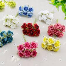blumen geschenke zur hochzeit 6 stücke seide gradienten mini künstliche blumen bouquet